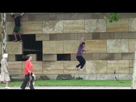 GIBBONUSA・スラックラインオールスターズのシティライン動画