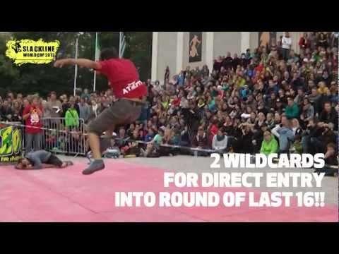2012スラックラインワールドカップの日程やワイルドカード動画など