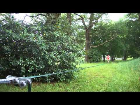 32mのロングラインを設置して歩く動画