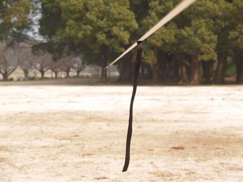 ウィンドダンパーを使いロングラインでの風の影響を減らす