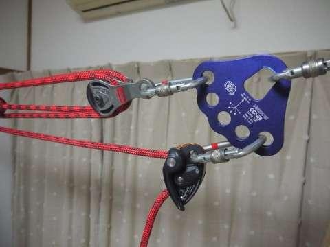ペツルのグリグリ2をブレーキとして使った例