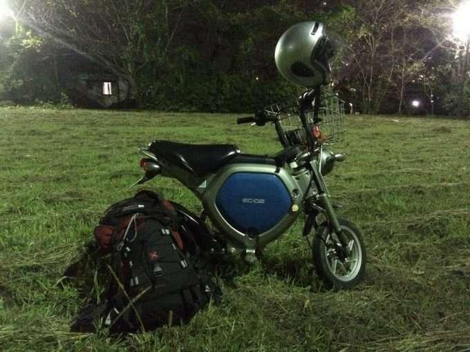 ヤマハの電動バイクEC-02