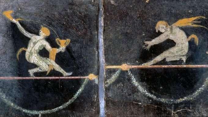 ポンペイ遺跡のフレスコ画