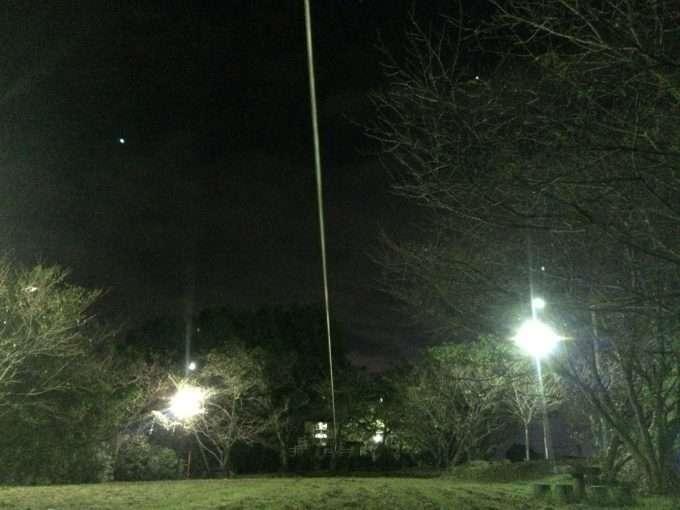 夜スラックライン