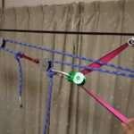 ライングリップを使い歩行ラインをダイレクトに引く場合に別ロープを使い7:1や9:1で引くレイアウトの紹介