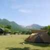 くじゅうやまなみキャンプ村で絶景キャンプ、次の朝は長者原で早朝スラックライン