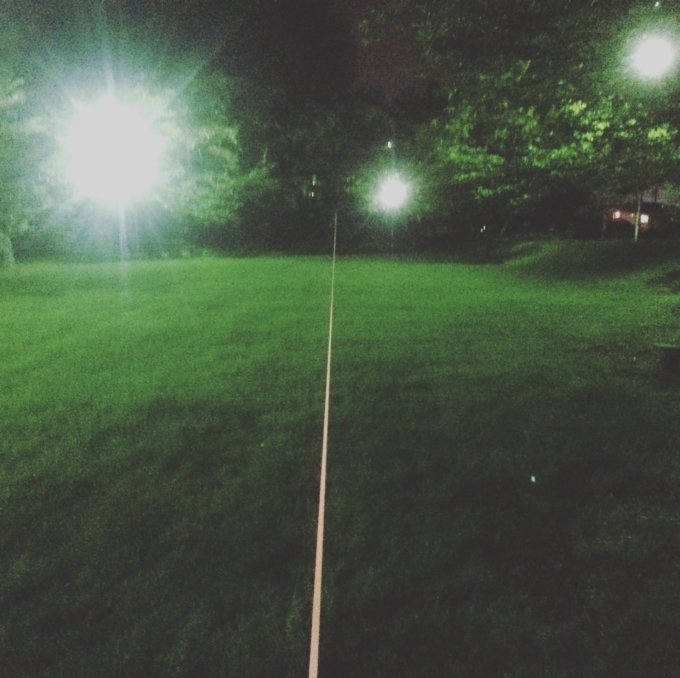 夜のスラックライン