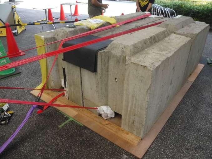 スラックラインのコンクリートアンカー