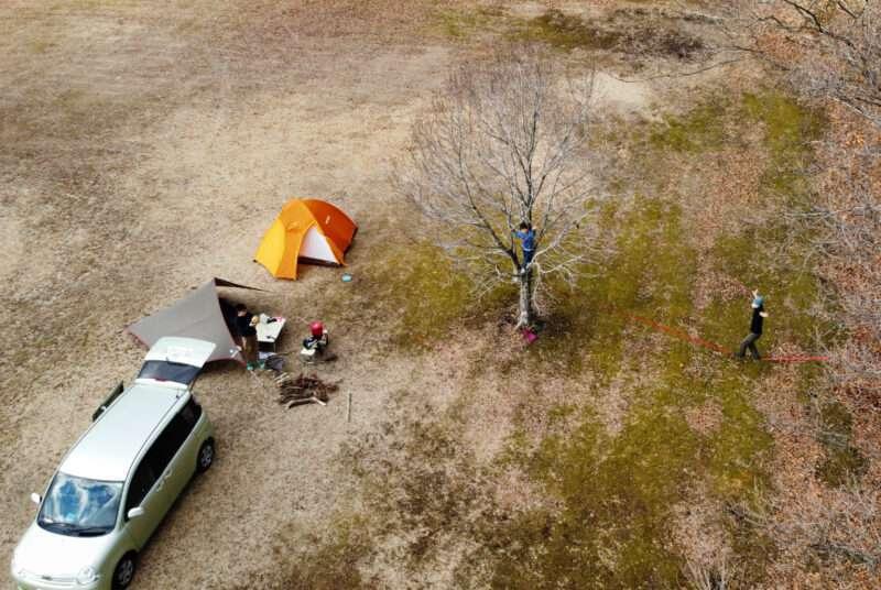キャンプとスラックライン