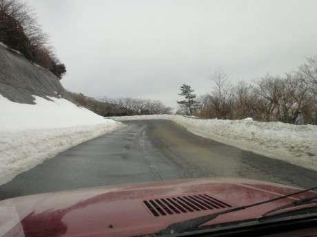 2011年1月23日、九重、瀬の本~牧ノ戸~長者原、雪の道路情報
