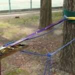 超おすすめのバックアップ方法。ロープは8mmをループに上にすることで強度アップ。結び方はダブルフィッシャーマン。