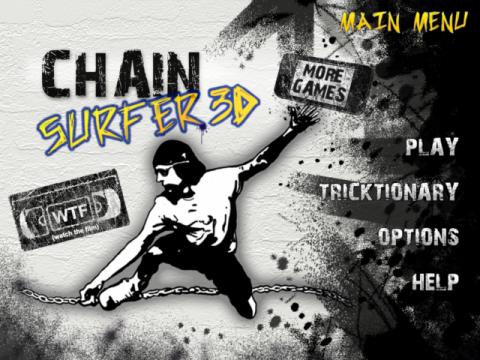 チェーンサーファーという鎖を揺らしてトリックを決めるゲームアプリが面白い
